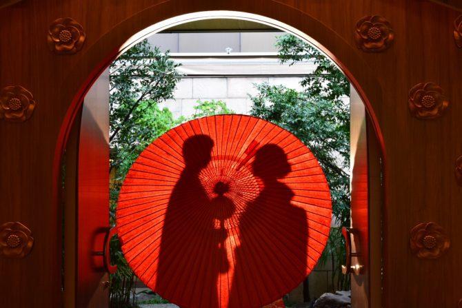 番傘 和の演出 結婚式